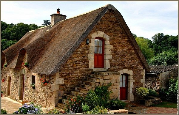 Bretagne maison typique bretonne vannes basse bretagne morbihan france europe - Entree bretonne typique ...