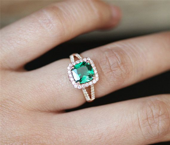 special shopping wedding white man new shop emerald bridal ring set engagement facetsandkarats and etsy created band diamonds cut lab made ctw gold eternity asscher