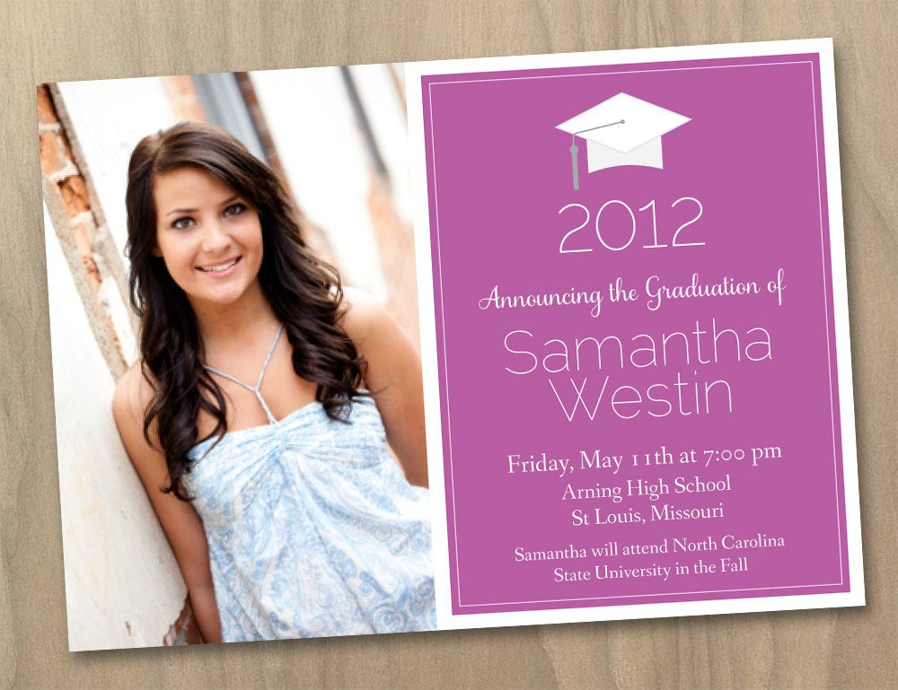 Graduation Invitation Templates With Photo  Free Printable
