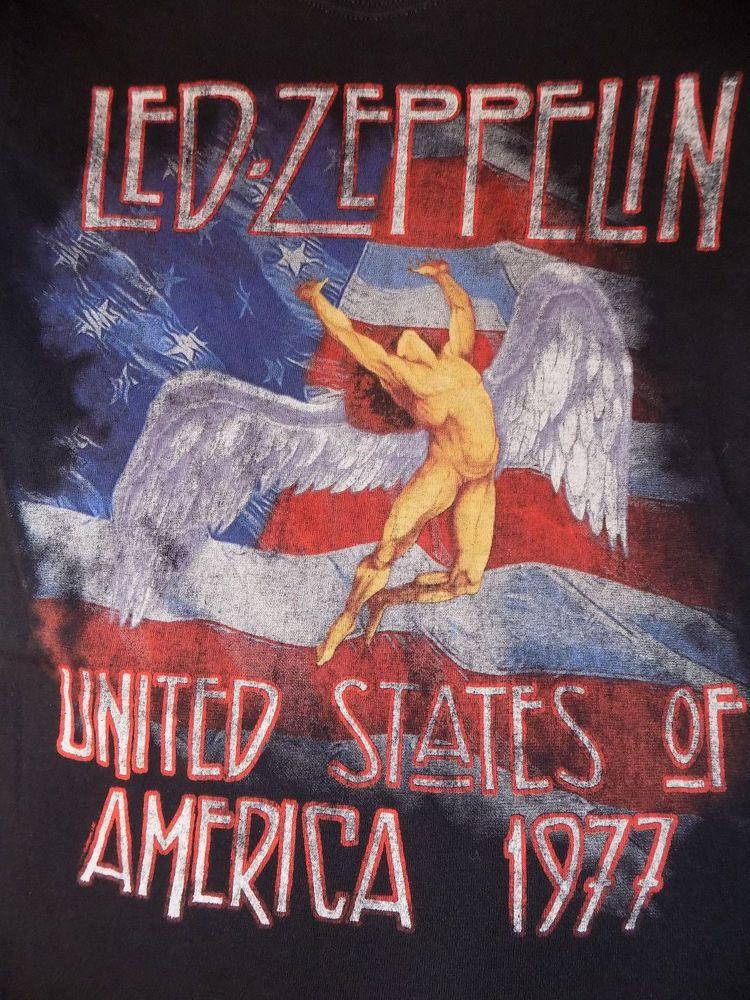 60bac73b29b44 Led Zeppelin United States of America 1977 Tour T Shirt Size Small Black   LedZeppelin  GraphicTee