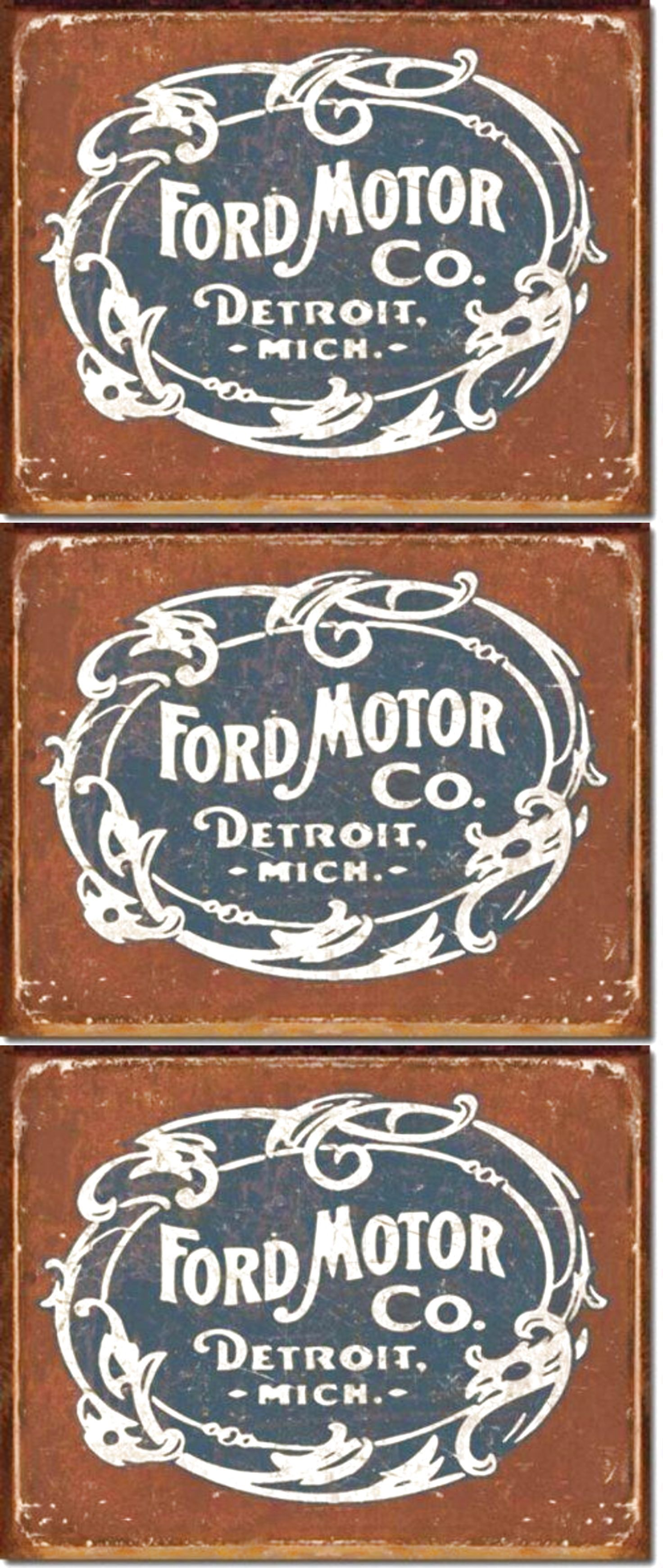 Ford tin sign distressed metal vintage classic car wall art garage