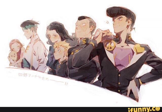 jjba, josuke, okuyasu, koichi, yukako