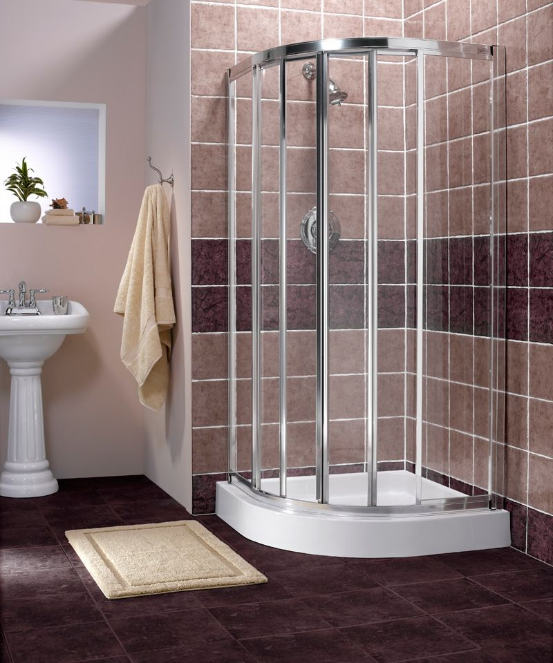drawing of corner shower units for small bathroom solving space rh pinterest com