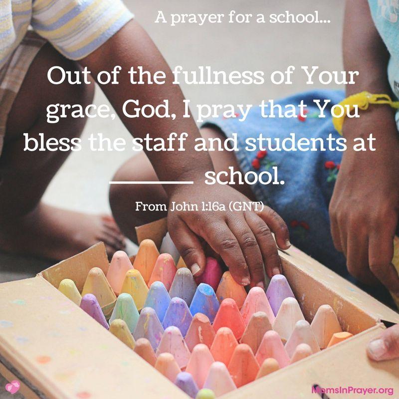 A prayer for a school.