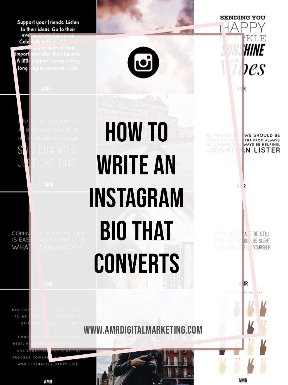 instagram bio for digital marketer