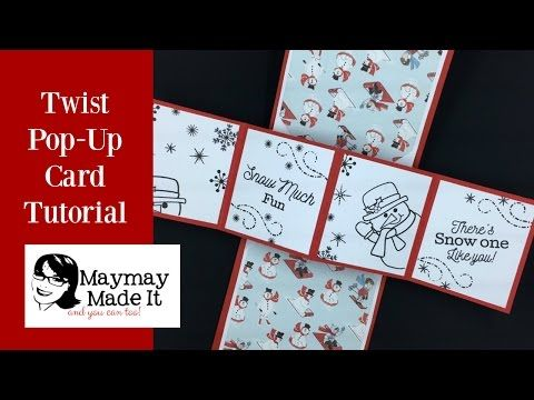 Twist Pop Up Card The Easiest Way I Could Figure Out Maymay Made It Twist Pop Cards Fancy Fold Cards