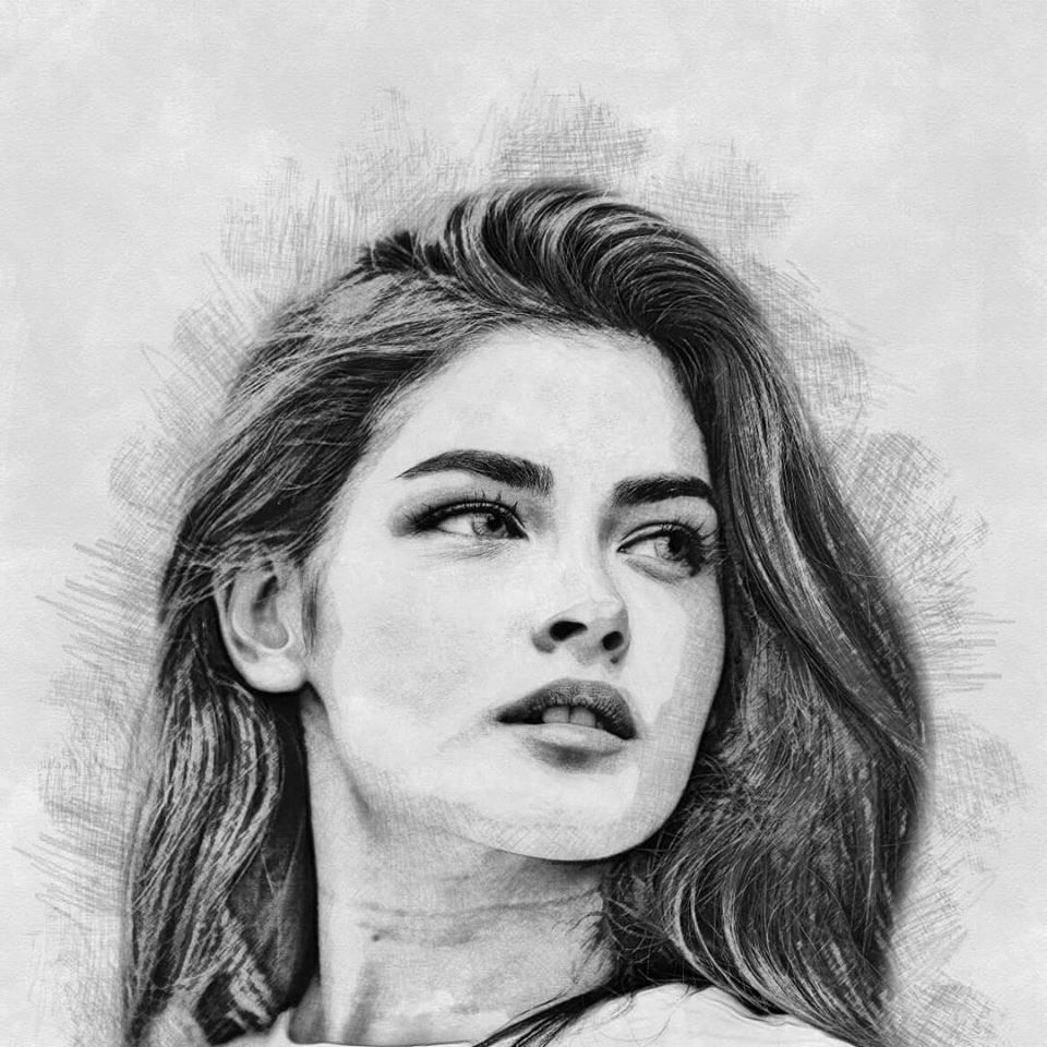 Pencil drawing photoshop action features 1 4 mode drawing effects color effect dark tone medium tone light tone sketch mode 2 easy to use 3 time