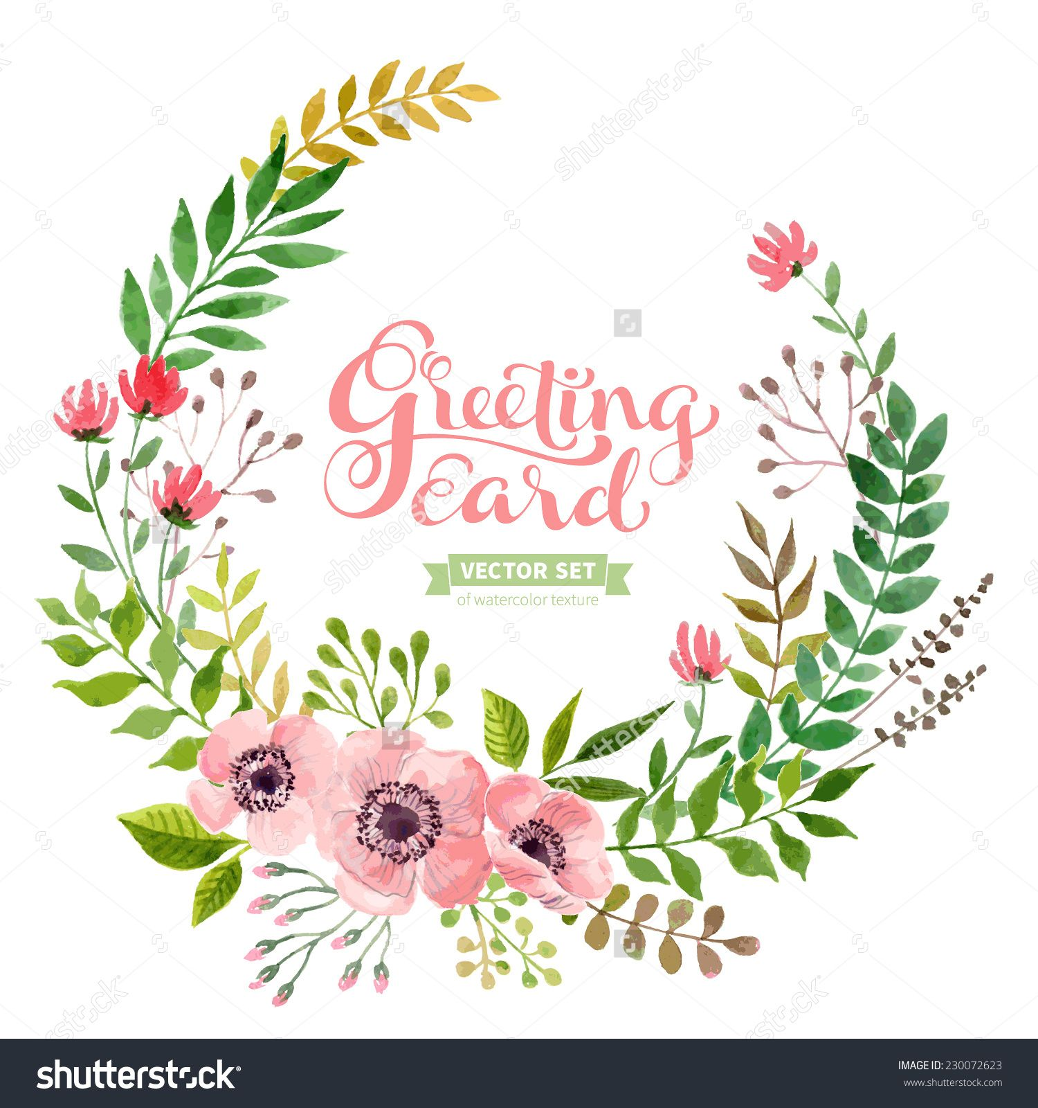 vector flowers set colorful floral collection with leaves