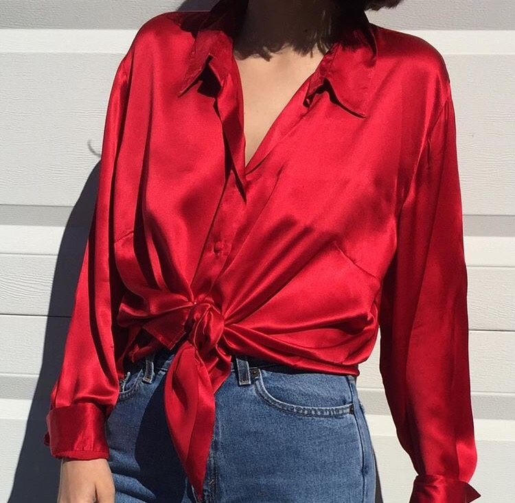 Unique trumansav | looks | Pinterest | Red silk, Silk and Clothes KT44