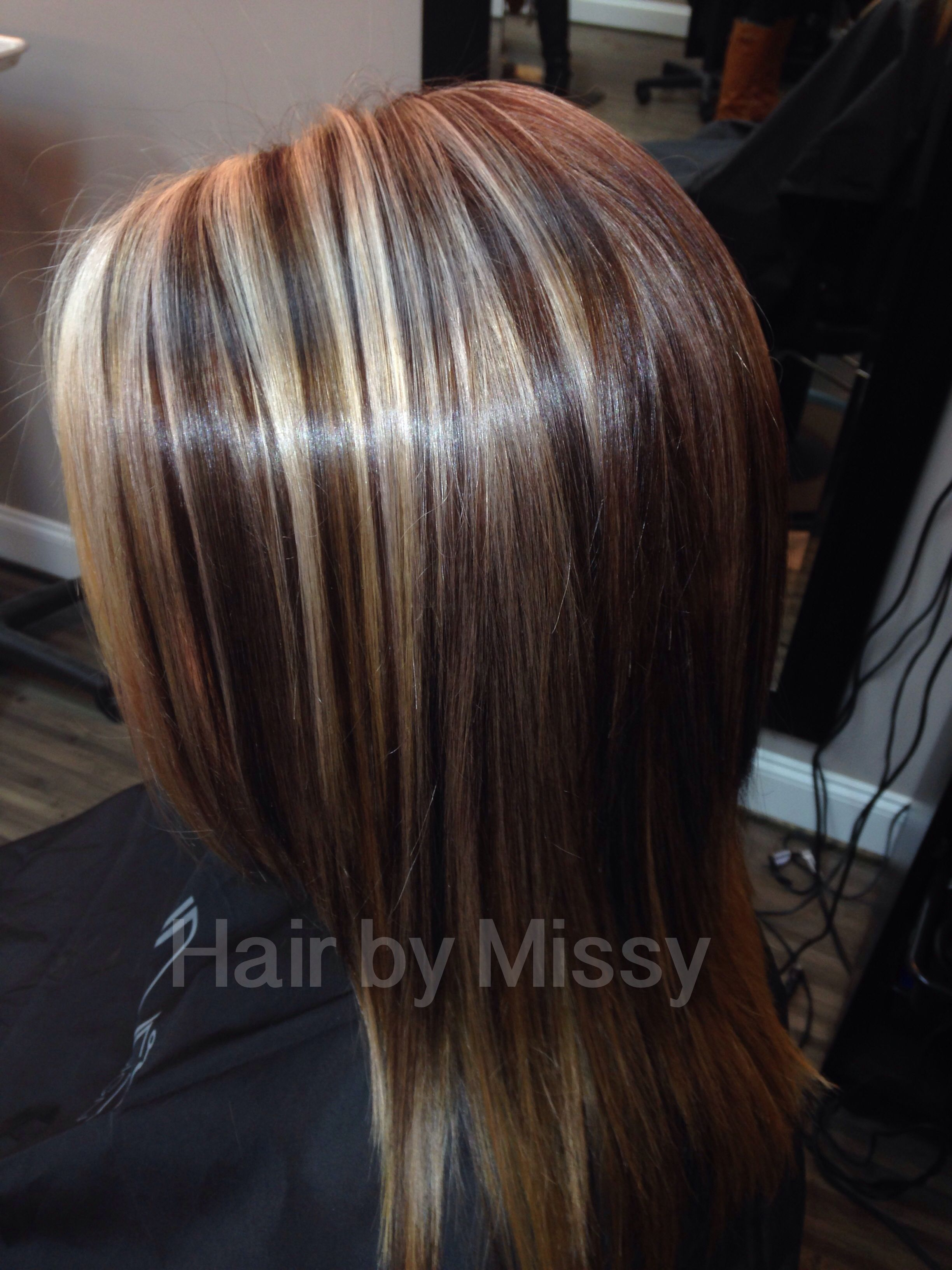 Highlight Lowlights Long Hair Dimension Brunette Blonde