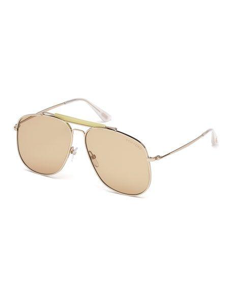 a2b01135f84 TOM FORD Connor Runway Aviator Sunglasses