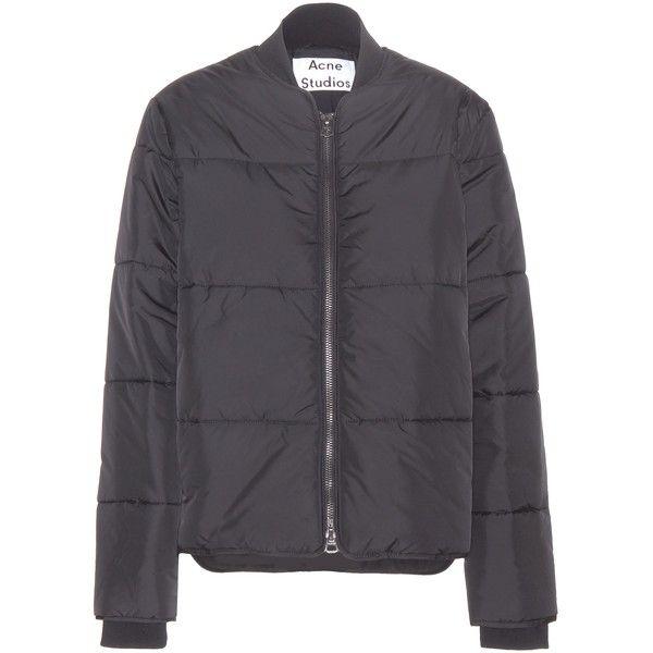 Acne Studios Sophia Padded Jacket ($465) ❤ liked on Polyvore featuring outerwear, jackets, coats & jackets, black, acne studios, padded jacket, black jacket and black padded jacket