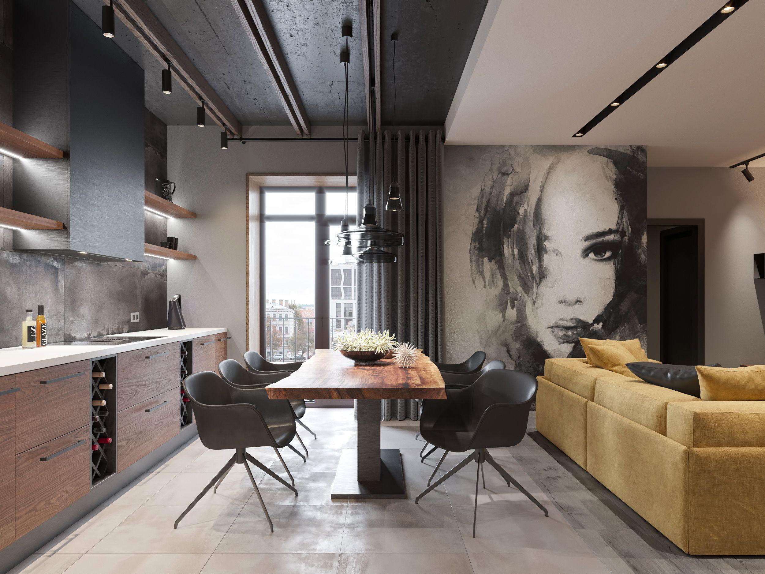 Loft Interior 2 On Behance Loft Interior Design Apartment