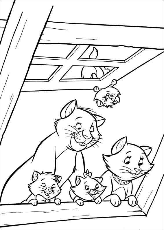 The Aristocats Coloring Pages 3