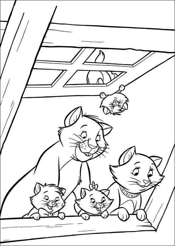 Aristocats Ausmalbilder 4 | Comics | Pinterest | Ausmalbilder ...