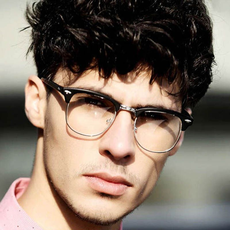 02d29f424e1a Fashion-Unisex-Clear-Lens-Nerd-Geek-brand-sunglasses-