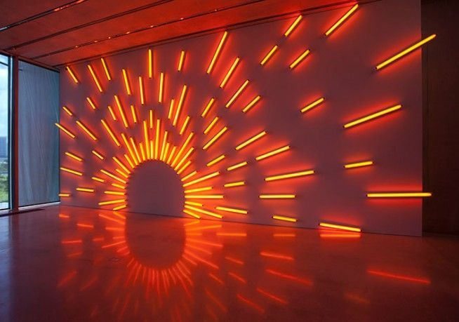 Mark Handforth Western Sun 2004 #lightartinstallation