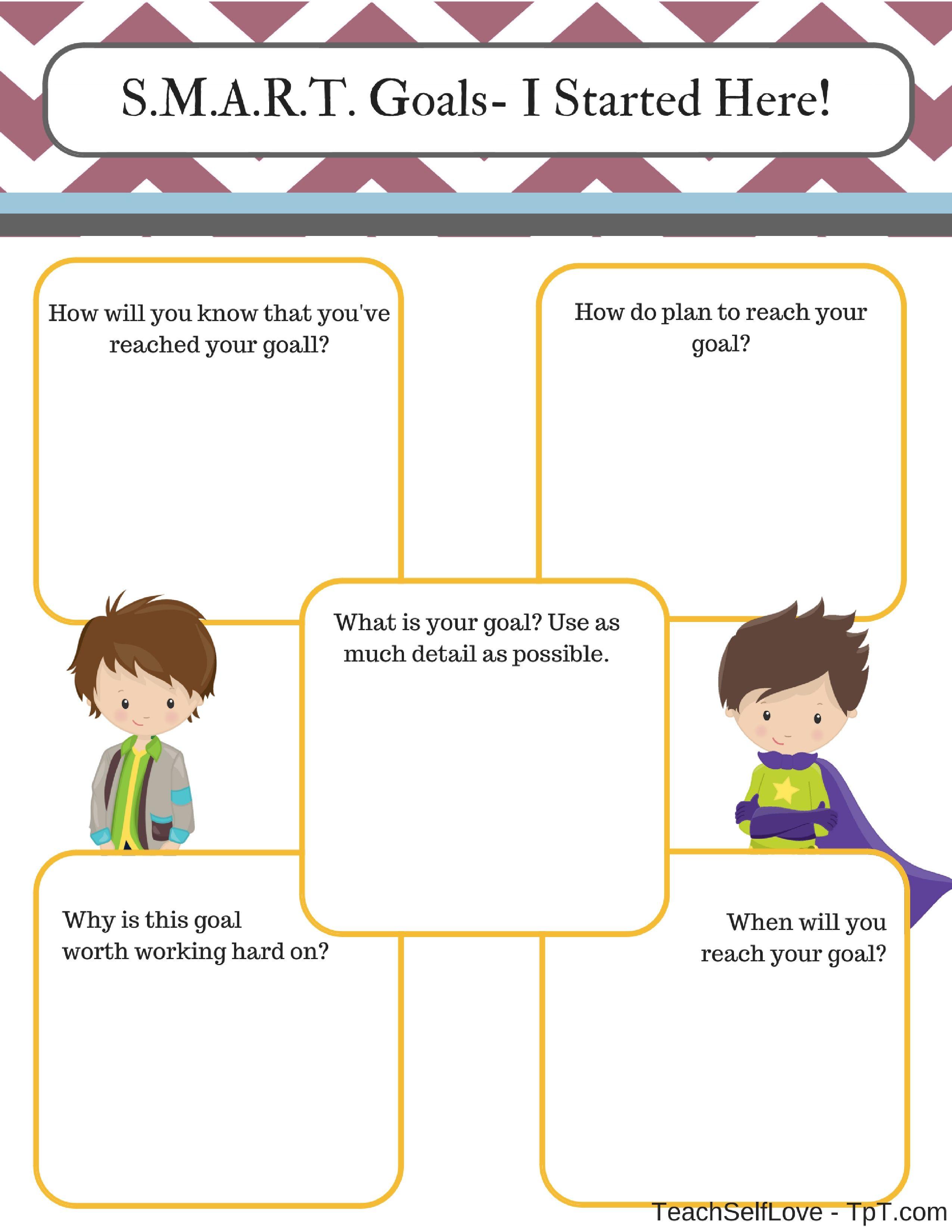 SMART Goals - Comparison Worksheets | For Teachers, By Teachers ...