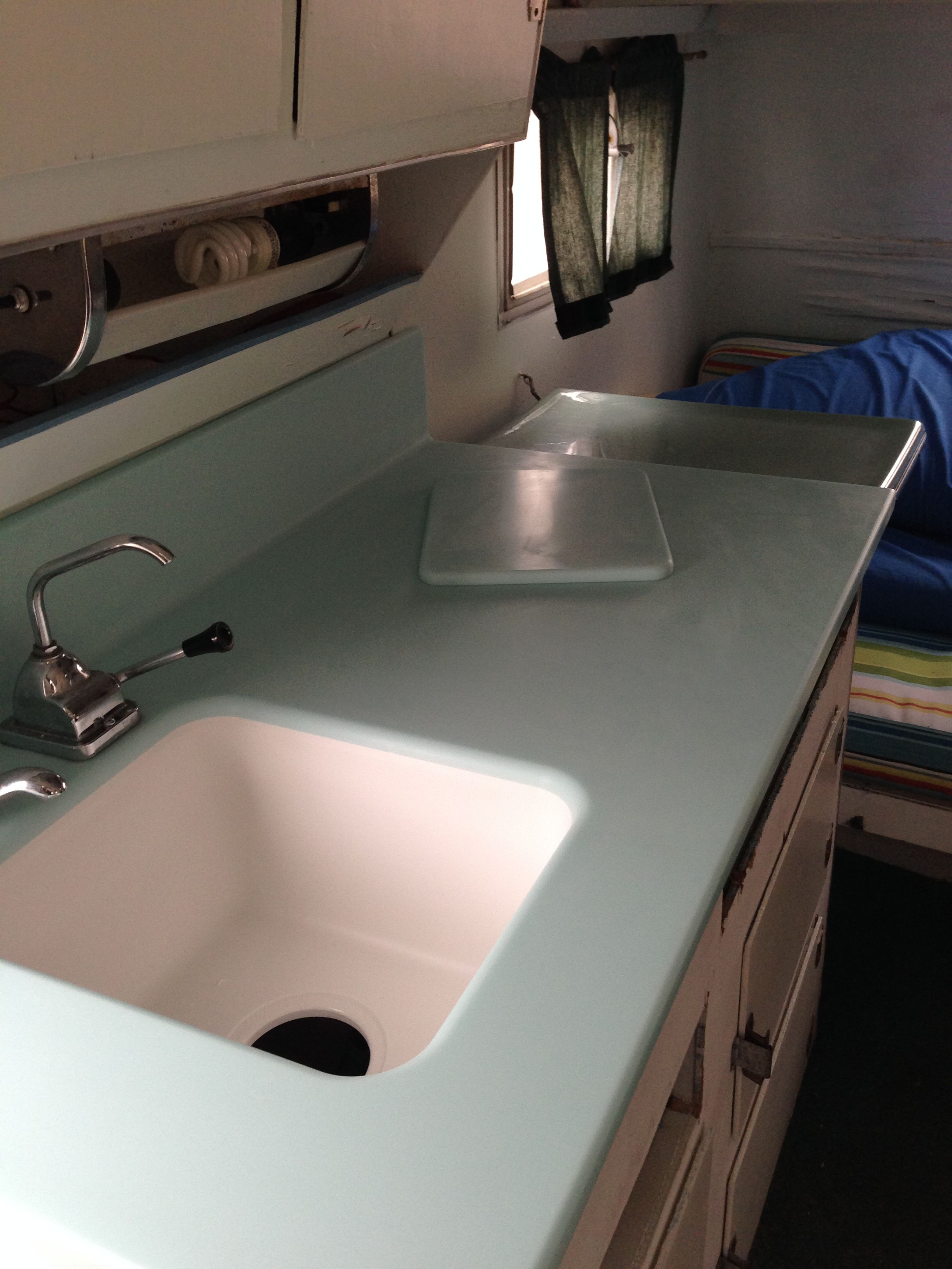 New Corian Mint Ice Counter And Sink In Our Scotty Hi Lander