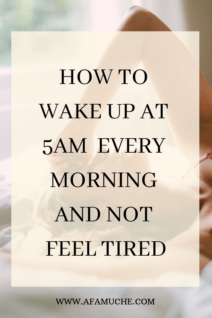 How to wake up at 5am every morning and not feel tired  #morningroutine