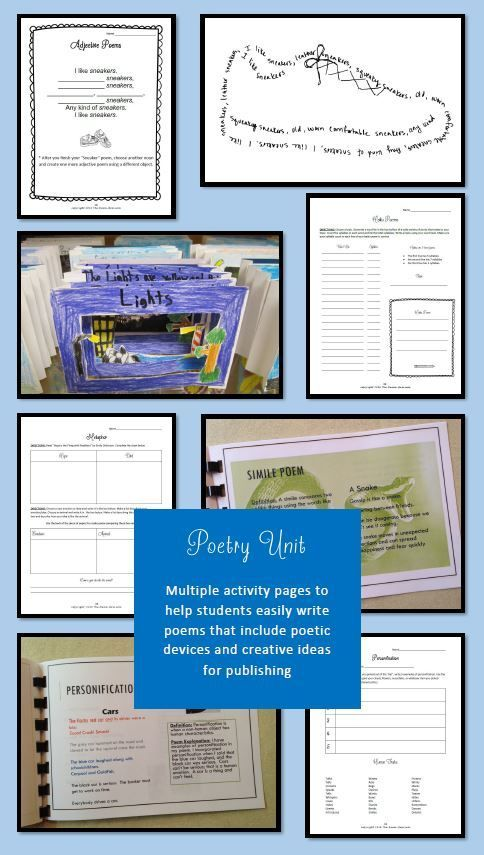 Poetry Unit And Poetry Game Poetry Unit Alliteration And Simile