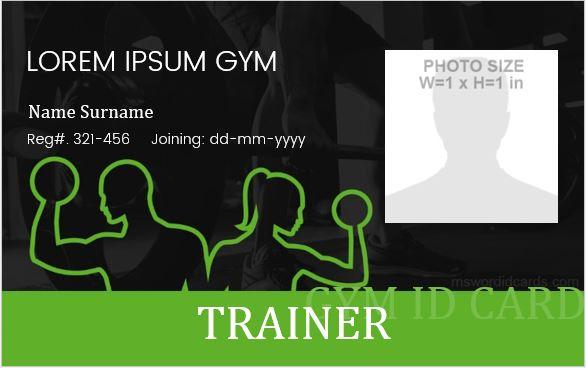 5 Best Gym Photo Id Badge Templates Microsoft Word Id Card Regarding Gym Membership Card Template Gym Membership Card Gym Photos Membership Card