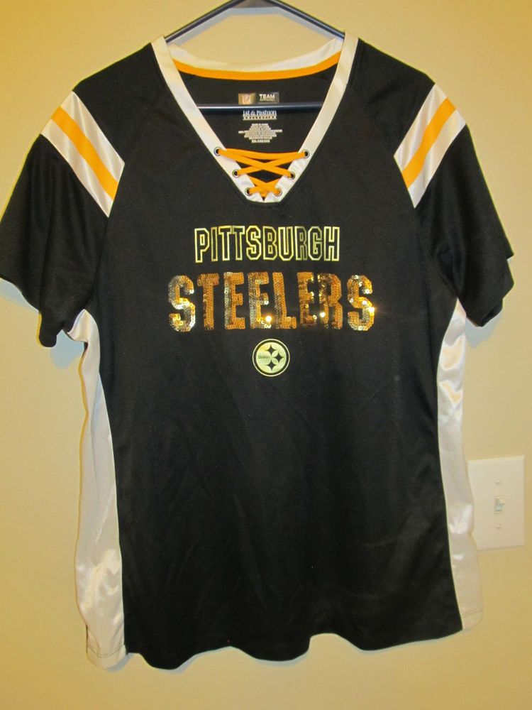 Pittsburgh Steelers BLING Gold Football jersey - NFL Inc. Women s 2XL   NFLInc  PittsburghSteelers 74df327d2