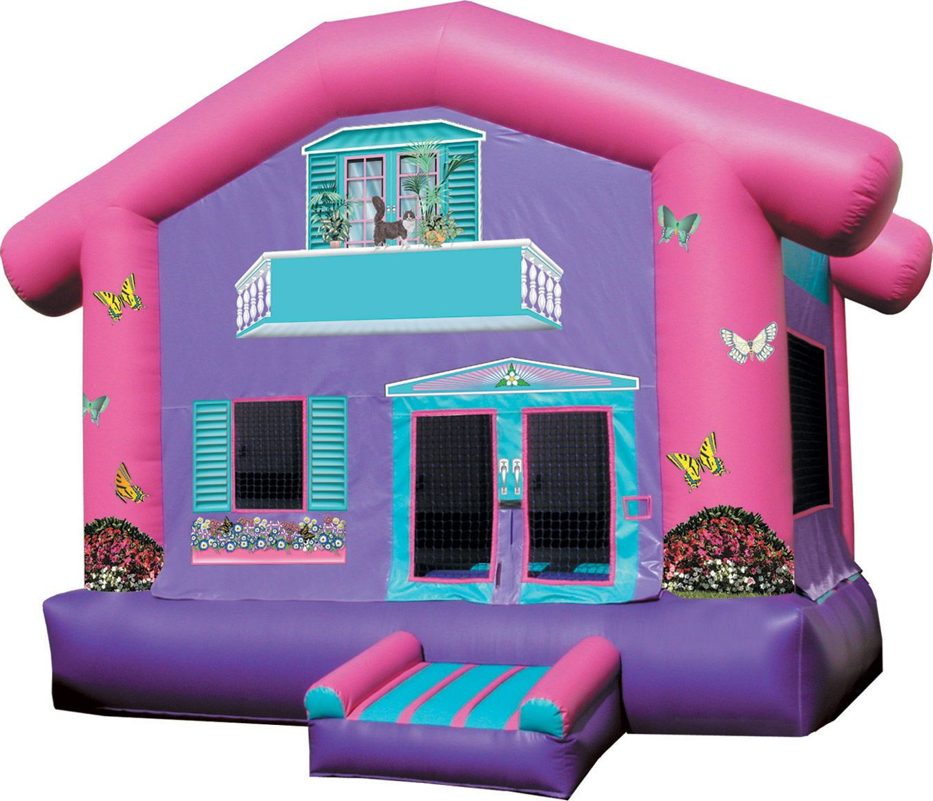 Doll house bouncer bounce house kids party rentals