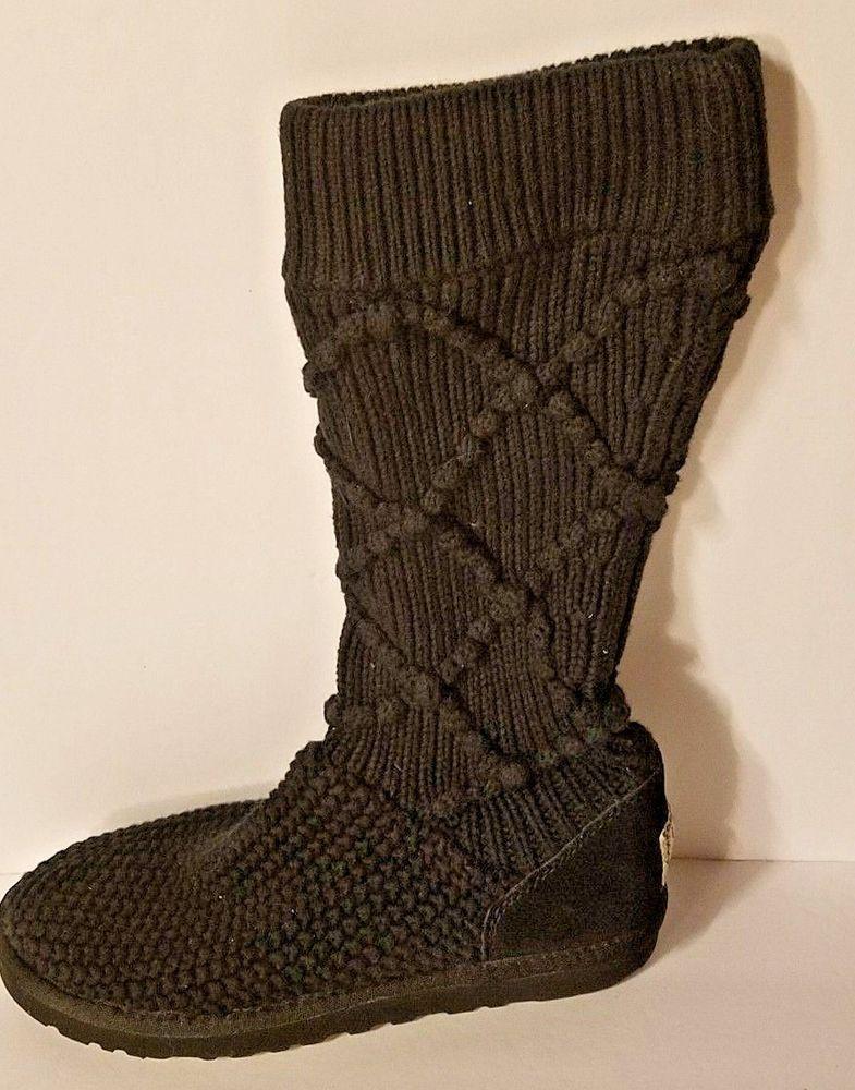 1f03185084c Ugg Australia Cardy 5879 Classic Tall Knit Womens Boots Size 7 ...