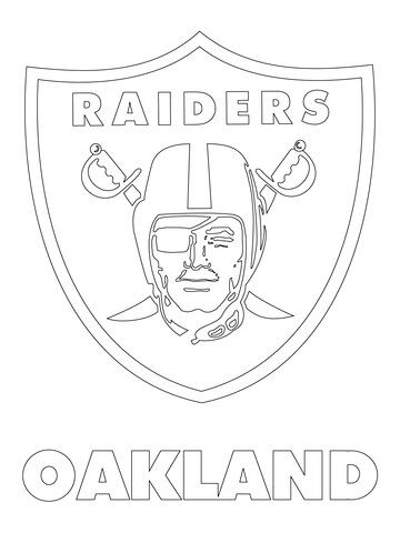 Oakland Raiders Logo Coloring Pages | NFL | Pinterest