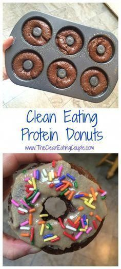 Clean Eating Protein Donuts are the perfect healthy snack for those who have a serious sweet tooth! Made with simple ingredients and totally delicious! #HealthyDesserts #proteindonuts Clean Eating Protein Donuts are the perfect healthy snack for those who have a serious sweet tooth! Made with simple ingredients and totally delicious! #HealthyDesserts #proteindonuts Clean Eating Protein Donuts are the perfect healthy snack for those who have a serious sweet tooth! Made with simple ingredients and #proteindonuts
