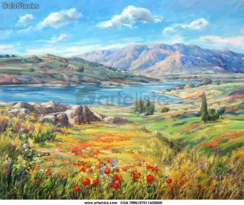 Cuadro 100 x 81 cm de temática paisaje - José Morán Vázquez