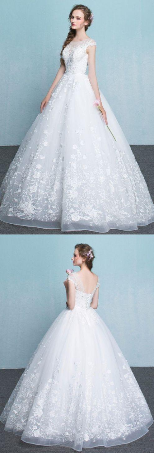 A line Wedding Dresses, White A-line/Princess Wedding Dresses ...
