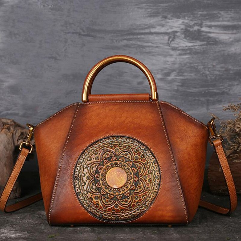 Women Embossed Design Leather Hand Bag Price 91 25 Free Shipping