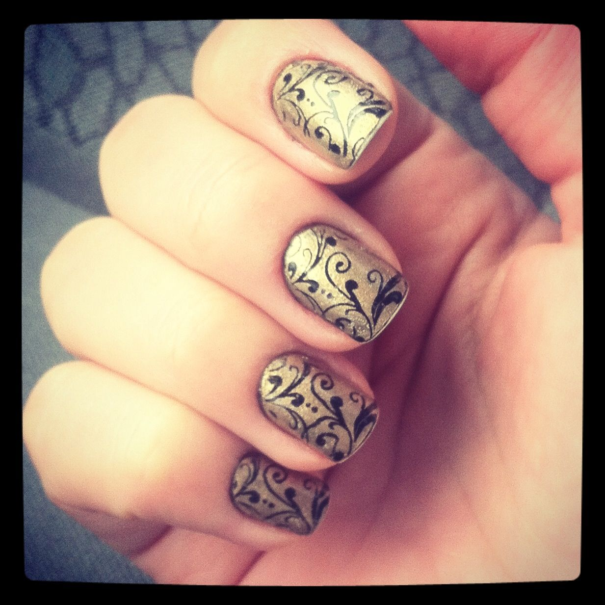 Nails for winter.  Bundlemonster stamper.
