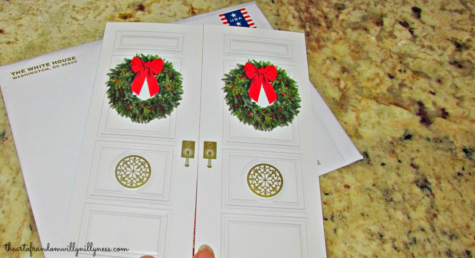 White House Christmas Card (2014) | Exterior appeared as double ...