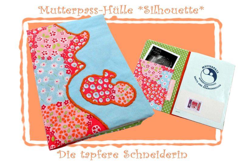 Mutterpasshülle Silhouette von Die tapfere Schneiderin, handmade with love ... by Viola auf DaWanda.com