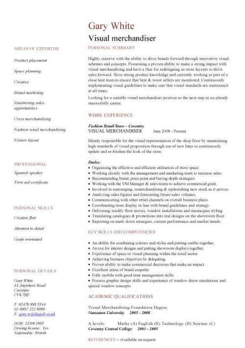 httpwwwdayjobimagespic_visual_merchandiser_cv_template merchandiser resume sample - Frito Lay Merchandiser Sample Resume