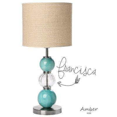2) lampara velador, con esferas de ceramica, modelo francisca ...