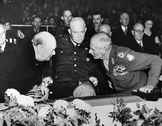 Churchill with American General Dwight D. Eisenhower and Field ...