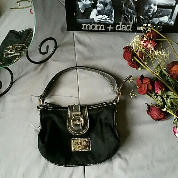Selling this GUESS SMALL BLACK BAG in my Poshmark closet! My username is   hippymama613 e9cf55bb55cdf