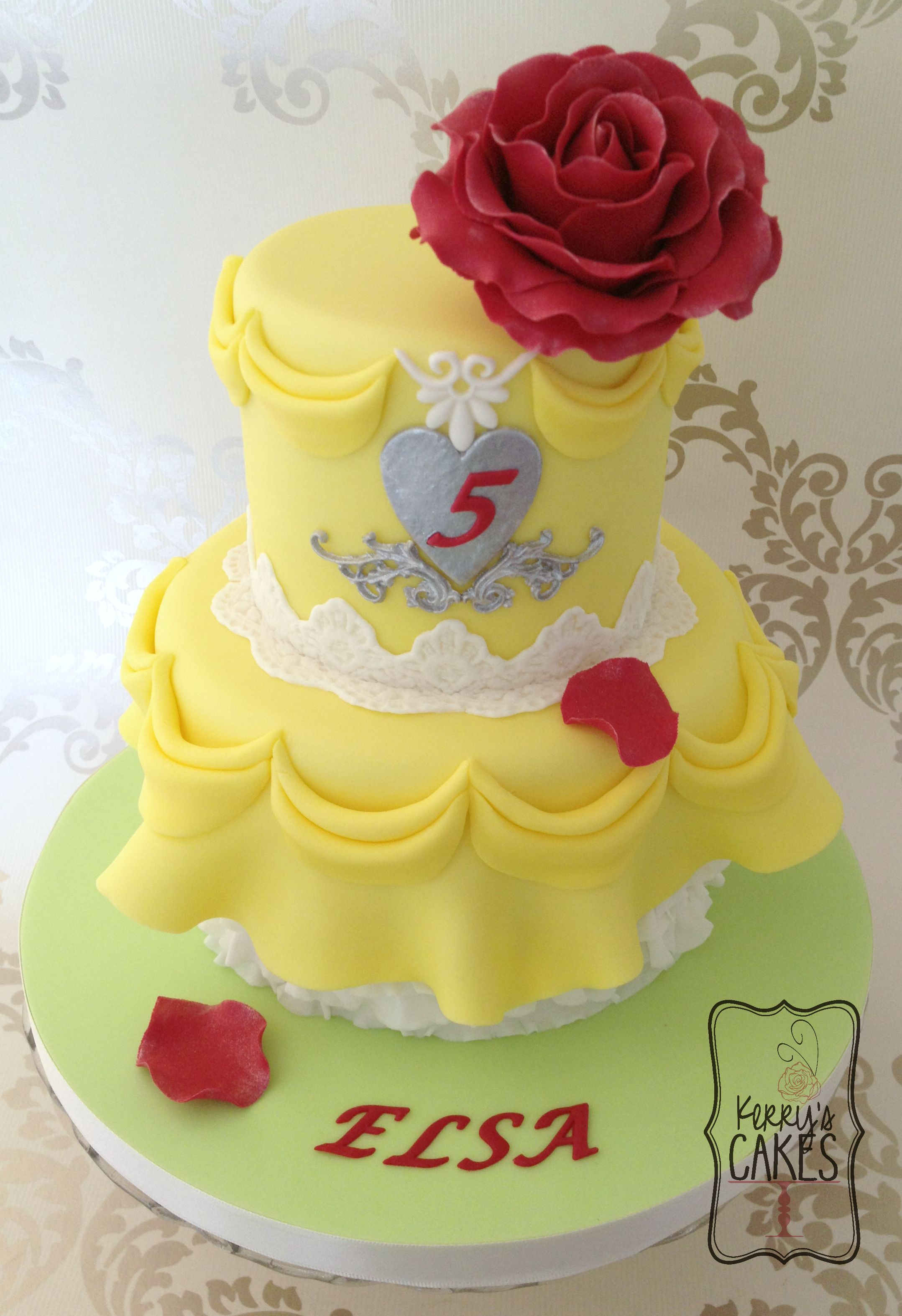 Belle from Beauty and the Beast Cake Cakes and Cupcakes for