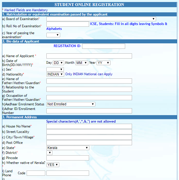 Higher Education Scholarship   Online Application Form
