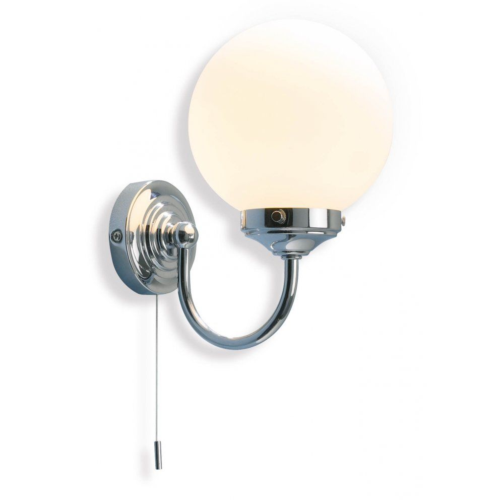 Dar Lighting Barclay Bathroom Wall Light IP44 Rated Chrome Finish BAR0750