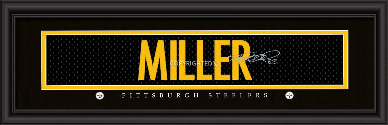 Heath Miller Pittsburgh Steelers Player Signature Stitched Jersey Framed Print