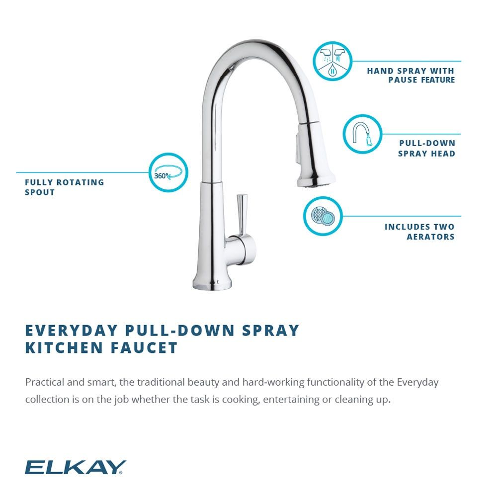 Elkay Pull-Down Spray Kitchen Faucet | Fancy Your Faucet ...