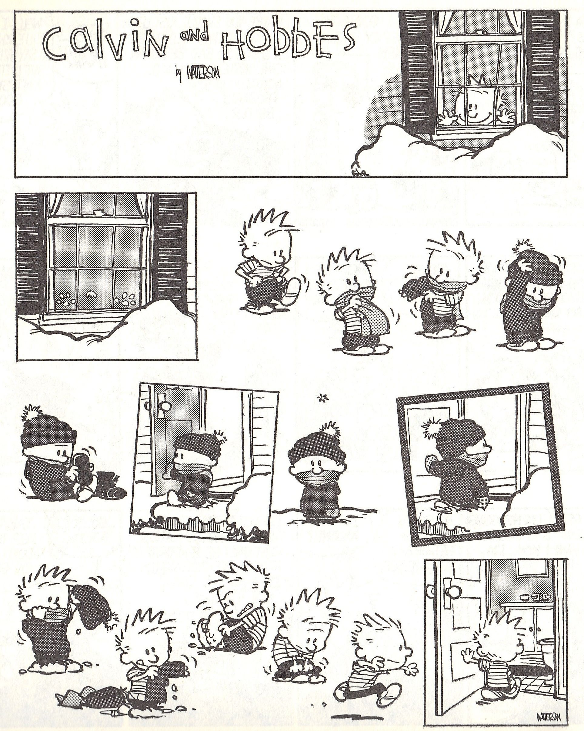 Calvin & Hobbes cartoon [awww] : psychology - reddit.com