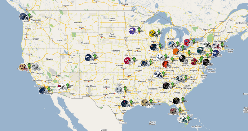 Nfl Team Map High Size 1659 Wallpaper Nfltix Net Map Nfl Teams Nfl