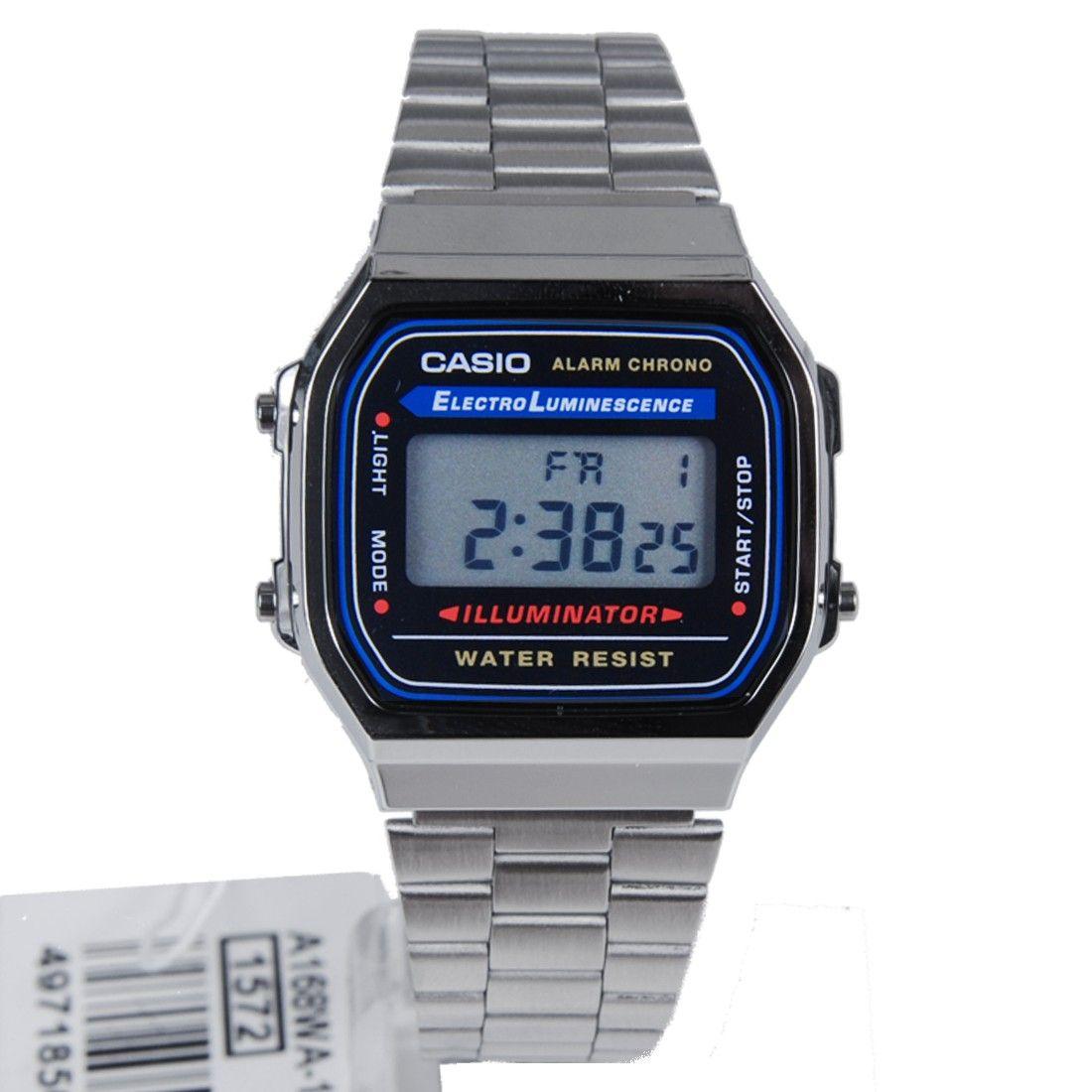 cd0236c8ba90 Casio Illuminator Mens Digital Alarm Watch A168 A168W A168WA-1U ...