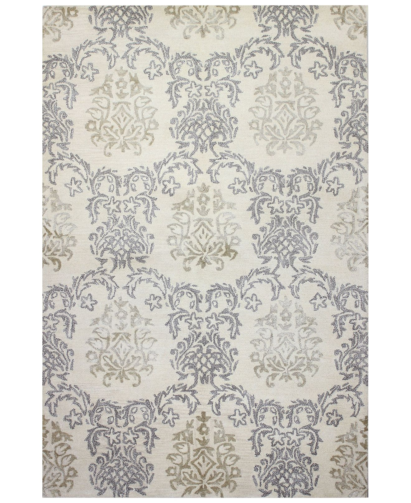 Macy's Fine Rug Gallery Bordeaux Damask Ivory Area Rugs - Rugs - Macy's Bridal and Wedding Registry